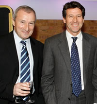 2007 Journalism awards - Jim Rosenthal with Lord Sebastian Coe