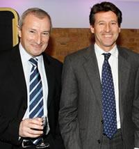 2007 Journalism awards - Jim Rosenthal with Lord Sebastian Coe