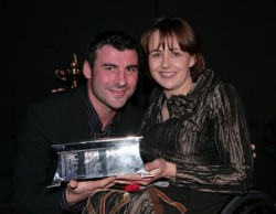 Dame Tanni Grey-Thompson and Joe Calzaghe