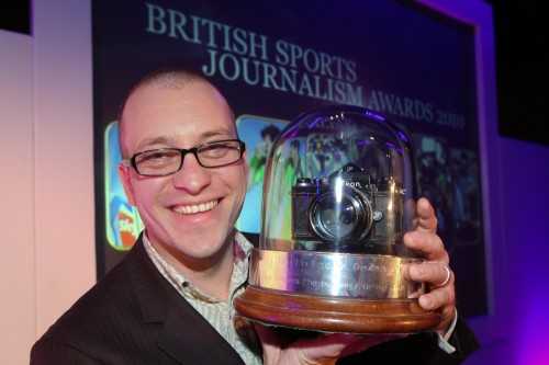 Laurence Griffiths was rightly delighted when he was named Sports Photographer of the Year at our 2010 awards