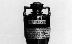Ashes urn close-up