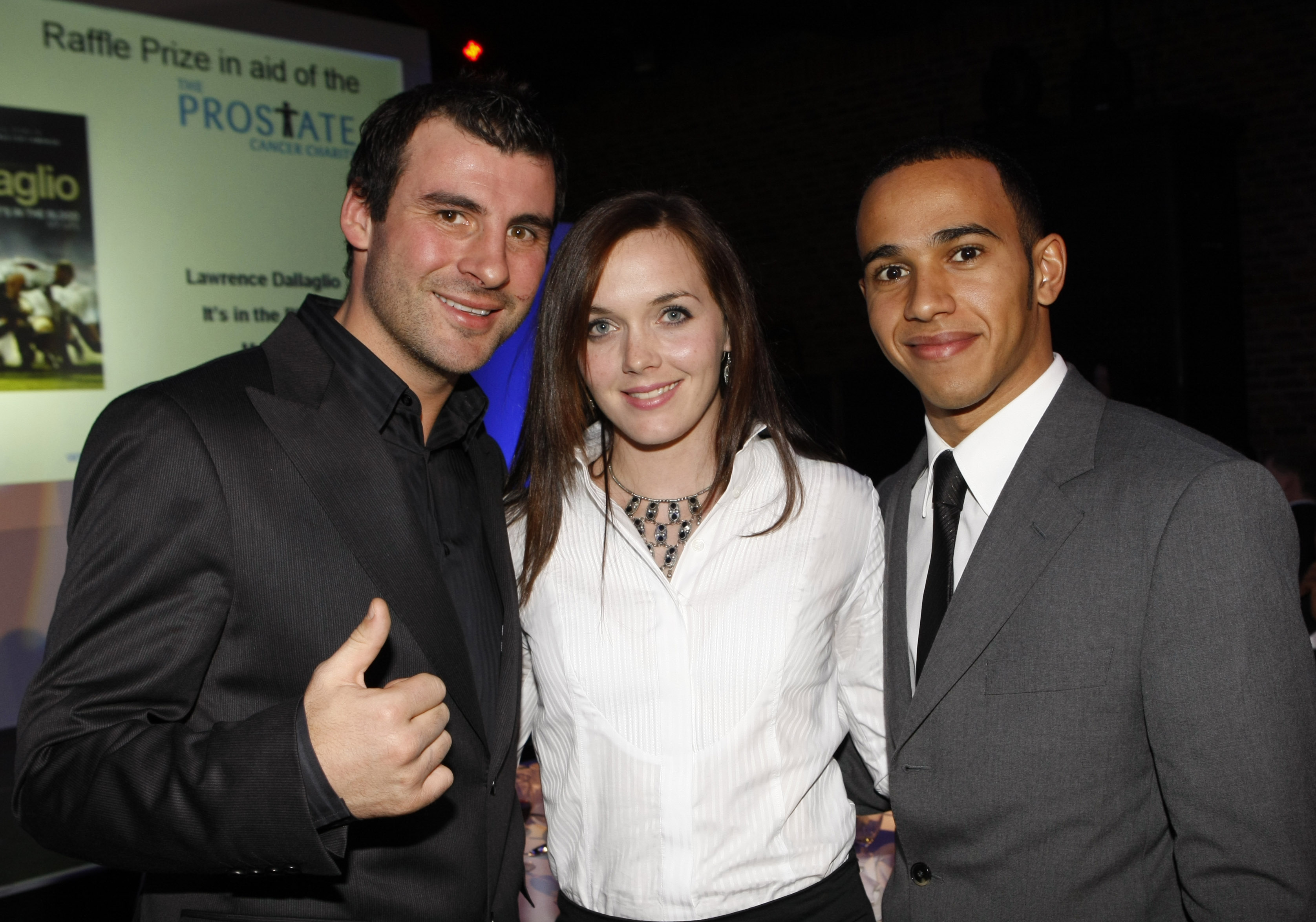Joe Calzaghe, Victoria Pendleton and Lewis Hamilton, star guests at an SJA awards