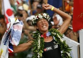 Iron Lady Chrissue Wellington celebrates her fourth Hawaii Ironman win
