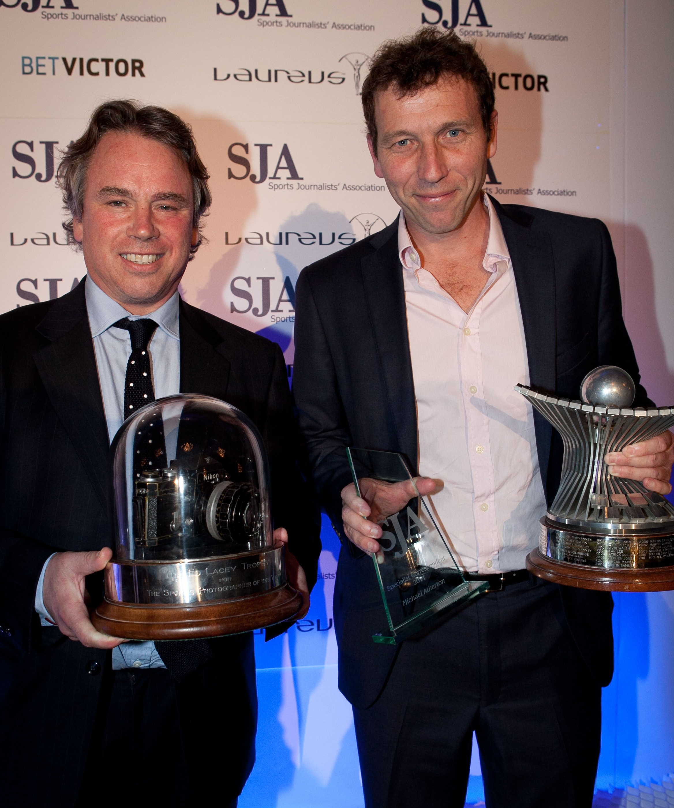 Titles regained: Edward Whitaker and Michael Atherton, the SJA's Sports Photographer and Sports Writer of 2011