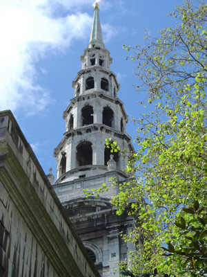 St Bride's, the journalists' church, off Fleet Street