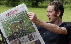 Bradley Wiggins: the Tour de France winner pays keen attention to what the papers say, even French ones