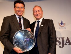 "Another award for Seb Coe, this one for ""winning"" the Olympics, the JL Manning Award for services to sport, presented by the SJA vice chairman, David Walker"