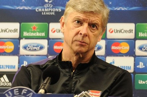 You looking at me? Arsene Wenger showed the pressure of management earlier this week