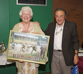 John Dennis, with his wife Shelagh, six years ago at a presentation for their untiring work for cycling in Reading