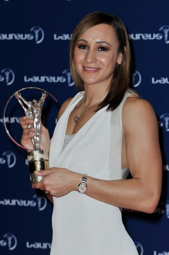 Jessica Ennis receives her Sportswoman of the Year award at Monday night's Laureus ceremony in Rio de Janeiro