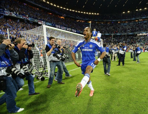 Dylan Martinez, of Reuters, captures the joy of Didier Drogba after scoring the clicnhing penalty in last May's Champions League final in Munich