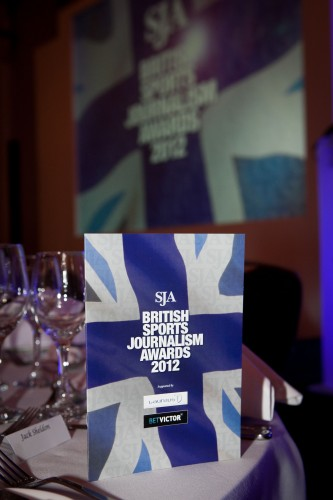 The stage is set, the champagne chilled, the tables laid... time to get the 36th annual SJA British Sports Journalism Awards under way