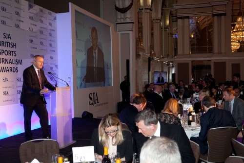 Jim Rosenthal was again our skilful master of ceremonies in front of nearly 400 SJA members and guests from the worlds of media, sport and politics at our annual Sports Journalism Awards