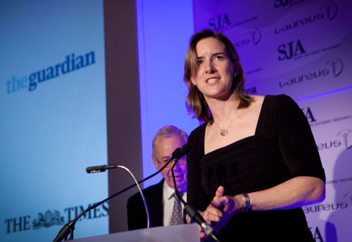 Gold-medal endorsement: Katherine Grainger thanks the sporting media for its Olympic coverage