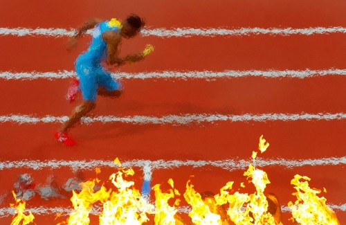 A sample of some of the outstanding photography entered for the SJA Sports Journalism Award - this image from the 2012 London Olympics by Mark Pain of the Mail on Sunday