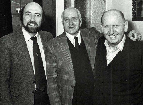All Our Yesterdays: Frank Broome, centre, Cliff Bastin, right, with Anton Rippon in 1984