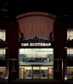 Dark days: The Scotsman's Edinburgh offices