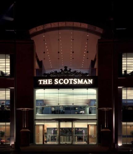 Dark days: The Scotsman's Edinburgh offices