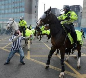 Disturbing scenes from Newcastle last weekend
