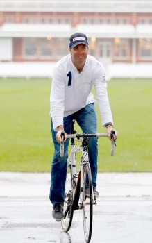 On yer bike: Michael Vaughan is looking for support for his charity bike ride