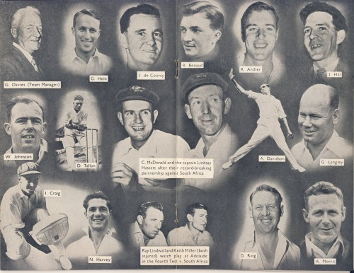 A montage from the programme, which was produced by The Cricketer magazine