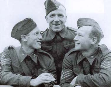 When the team played in khaki: footballing Army sergeants Joe Mercer (left), Matt Busby (centre) and Don Welsh, the Charlton player who was to become Liverpool's first post-war manager