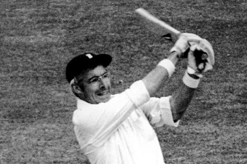 Steele-eyed scan: David Steele made his Test debut at age 38 and captured the hearts of a nation, as well as Denis Compton