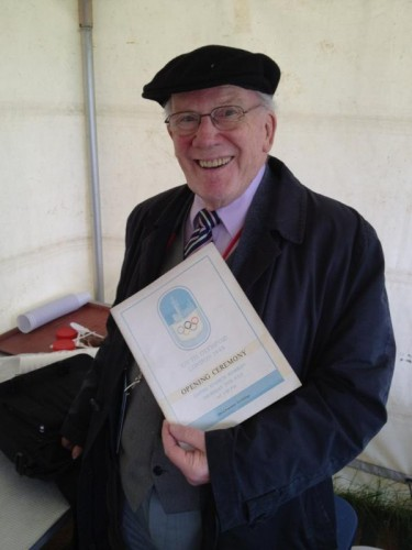 Norman de Mesquita, pictured last year with a prized souvenir from the 1948 London Olympics