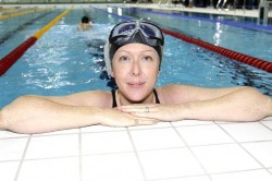 Not in the swim: Ashling O'Connor took an active role in sports news coverage