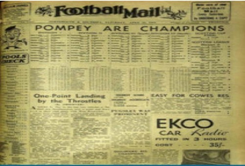 One from the archive: the Sports Mail is revived, but needs support from Portsmouth supporters