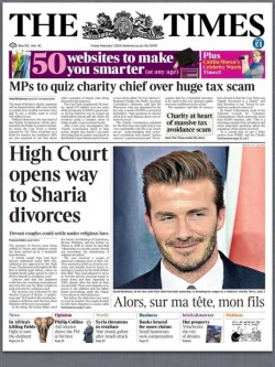 Times front page