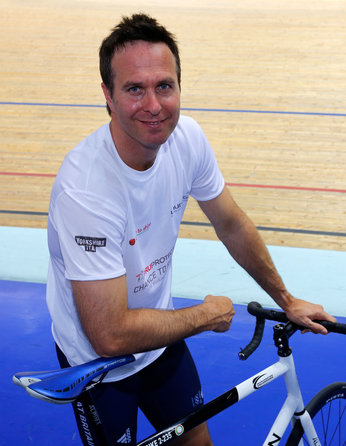Michael Vaughan will now be joined on his charity bike ride by his former England opening partner, Andrew Strauss