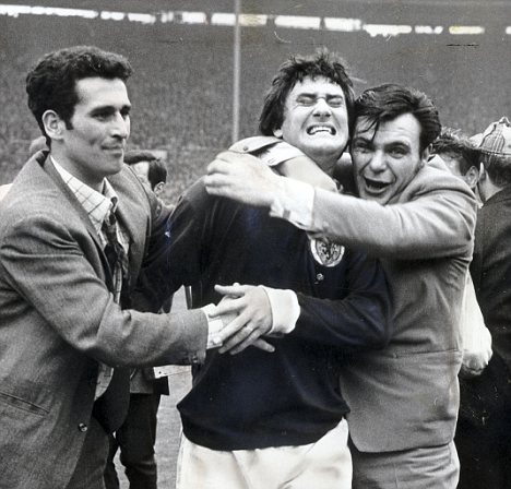 Jim Baxter mobbed by fans after Scotland's 1967 win over England