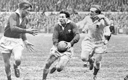 Morgan in his playing days: he is remembered as one of the great fly-halves of all-time