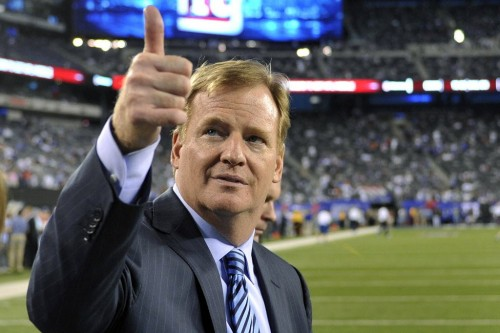 Big business: According to Forbes Magazine, under Roger Goodell, the NFL's 32 teams are worth $1.17bn