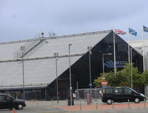 The SECC, the main media centre for the Glasgow Games, and venue for netball, judo and boxing