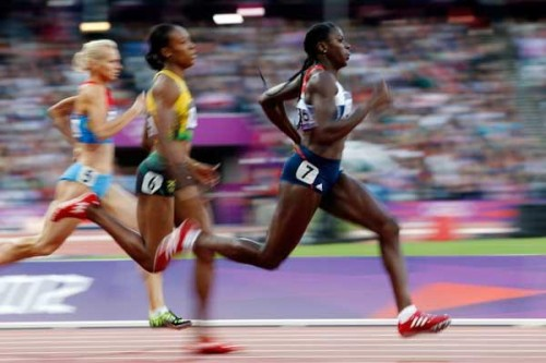 World-beater: Christine Ohuruogu on her way to winning the 400m world title for a second time