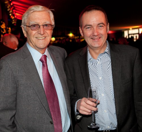 Delighted with our new partnership: Sir Michael Parkinson, the SJA President, left, with The National Lottery's CEO, Andy Duncan, at last year's SJA British Sports Awards. The National Lottery will be backing the event until 2016