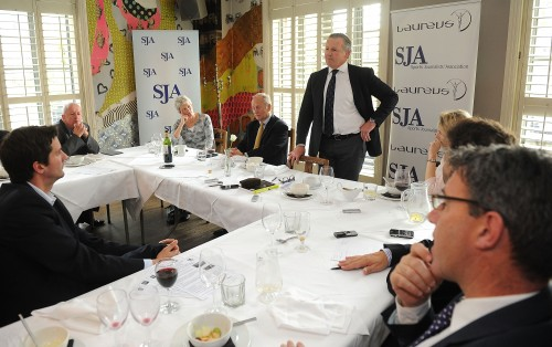 """England will take heart from their victory last year"" Laureus ambassador and former All Blacks captain Sean Fitzpatrick told the latest SJA lunch, held in London yesterday. Photograph by Tom Dulat/Getty Images"