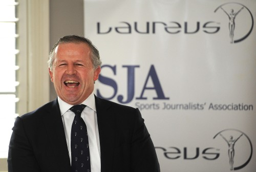 Not a laughing matter: the SJA's Laureus lunch guest, Sean Fitzpatrick, had painful memories of Twickenham defeats