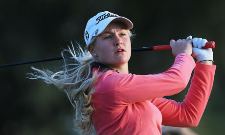 Teenaged golfer Charley Hull: her success with the European team in the Solheim Cup received extensive coverage