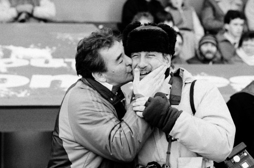 Loved by everyone: Monte Fresco attracted affection for his work and personal charm from the greats of sport, including Brian Clough