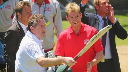 Brett Lee proved that Piers Morgan is not the answer to England's current batting problems