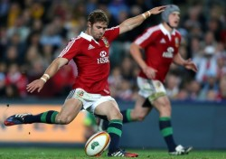 Lion-ing up his shit: Leigh Halfpenny was the Man of the Series as the Lions won in Australia