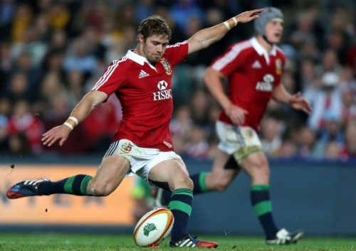 Lion-ing up his shot: Leigh Halfpenny was the Man of the Series as the Lions won in Australia