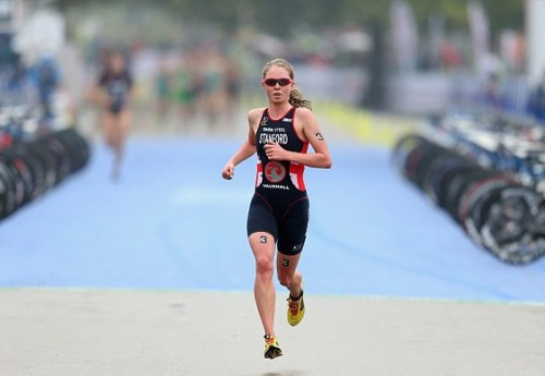 Triathlete Non Stanford charges to her first senior world title in Hyde Park in September