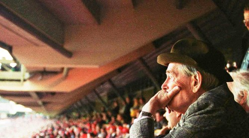 More than another face in the crowd: Peter O'Toole at the Heineken Cup final at Twickenham