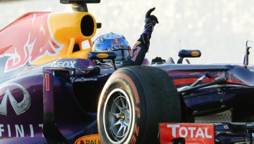 Unstoppable: Sebastian Vettel on his way to another F1 world title