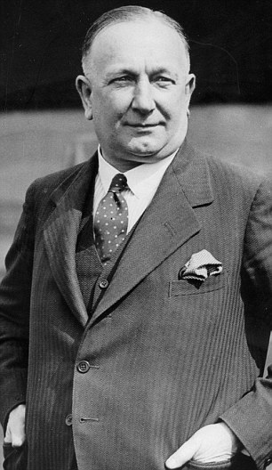Herbert Chapman: might have been banned for life from football before Huddersfield or Arsenal because of his association with Leeds City