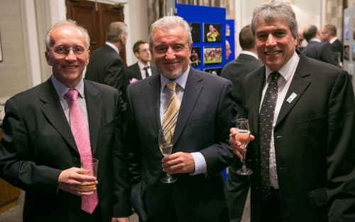 The awards evening offered plenty of opportunities to catch-up with old friends from the media and sport: David Walker, the sports editor of the Sunday Mirror as well as chairman of the SJA, left, with former England football manager Terry Venables and the evening's presenter, John Inverdale